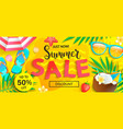 summer sale just now discount banner vector image vector image