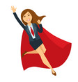 superwoman in office skirt suit and red cloak vector image
