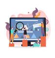 teamwork concept for web banner website vector image