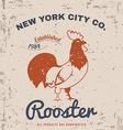 Vintage Rooster T-shirt Design vector image vector image