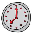 wall clock cartoon doodle vector image vector image