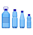 water bottles in line from big to small vector image vector image