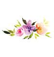 watercolor flower wreath vector image vector image