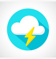 weather thunderstorm icon vector image vector image