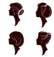 women and girl silhouettes vector image vector image