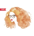 Young woman wearing glasses vector image vector image