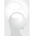 Human head think concept vector image
