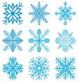 Nine original snow-flakes