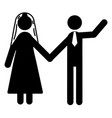 a couple getting married at a wedding ceremony vector image