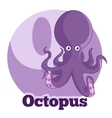 ABC Cartoon Octopus vector image vector image