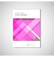 Abstract flyers brochure annual report vector image