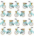 antique bicycle with basket pattern background vector image vector image