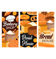 bakery shop bread and pastry food banners vector image vector image