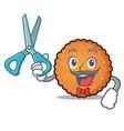 barber cookies character cartoon style vector image