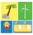 Beach vacation elements vector image