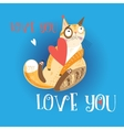 Beautiful love cat vector image vector image