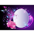 Billboard and flowers ornament vector image