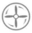 black dotted drone screw rotation icon vector image