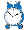 Blue retro alarm clock vector image vector image