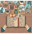 Book and education sketch icons vector image vector image