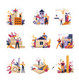 building of construction houses and homes vector image