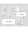 business set template with cute hand drawn vector image vector image