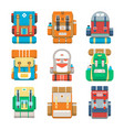 camping and travel backpack icon set vector image
