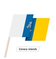 Canary Islands Ribbon Waving Flag Isolated on vector image vector image