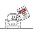 cartoon characters - man driving licence vector image