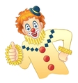 Cartoon funny clown image eps10 vector image