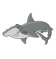 cartoon hammerhead shark vector image vector image