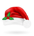 christmas hat santa claus vector image vector image