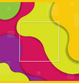 colorful background with line and symbol vector image vector image
