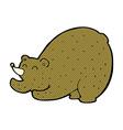 comic cartoon stretching bear vector image vector image