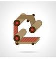 Conveyor element flat color icon vector image