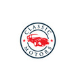 creative classic cars logo concept design vector image vector image