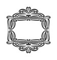 decorative black frame vector image
