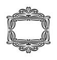 decorative black frame vector image vector image