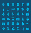 easter glyphs website icons vector image vector image