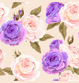 english roses seamless vector image vector image