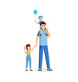 father standing with kids flat vector image vector image
