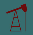 flat icon on stylish background gas production vector image vector image