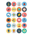 Flat SEO and Marketing Icons 4 vector image vector image