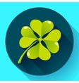 Four-leaf quatrefoil clover icon Flat design vector image vector image
