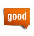good orange speech bubble isolated on white vector image vector image