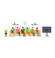 group happy people watching tv vector image vector image