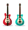 guitar icon abstract retro guitars isolated on vector image