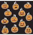 Halloween pumpkin stickers vector image