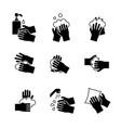 hand washing icon set on white background vector image
