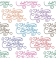 happy birthday seamless background pattern vector image